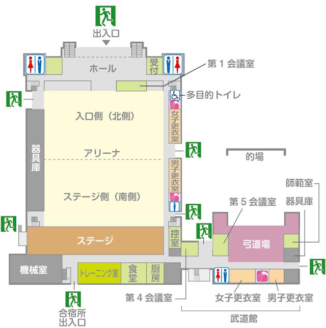 体育館・武道館 1F